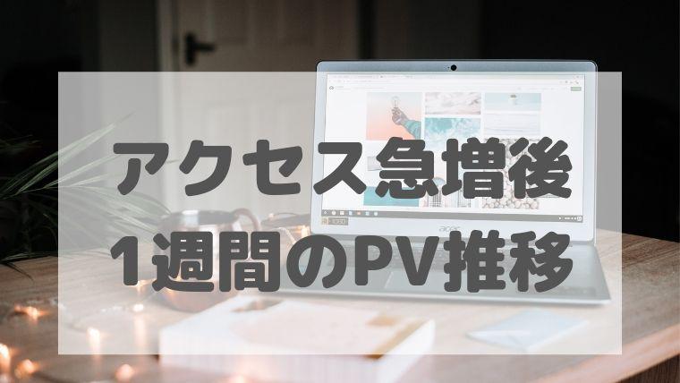 アクセス急増後 1週間のPV推移