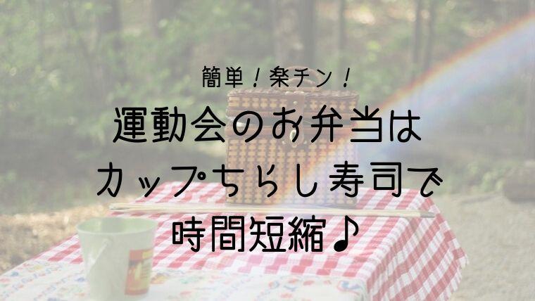 運動会のお弁当はカップちらし寿司がおすすめ